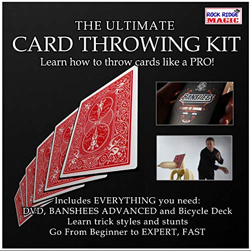Rock Ridge Magic Ultimate Card Throwing Kit - All of The Tools to Make You Look Like a -