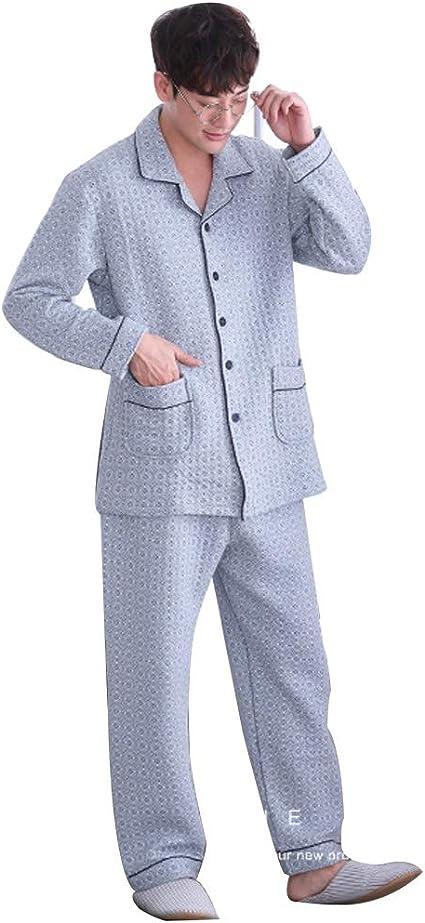 Pijamas Hombre Otoño Y El Invierno Caliente Set Cómodo Juego ...