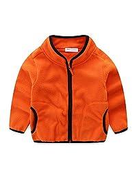 Mud Kingdom Kids Coats Unisex Fleece Jackets Plain