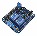 Onyehn 2 Channel DC 5V Relay Shield Expansion Board Module RF Bluetooth Wireless Remote Control Support XBee BTBee nRFL2401 CC1101 Extended For Arduino UNO MEGA R3 Mega2560 Duemilanove Nano Robot