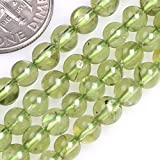 GEM-insid Peridot Gemstone Loose Beads Natural Energy Healing Power Beads for Jewelry Making 4-5mm Round 15''