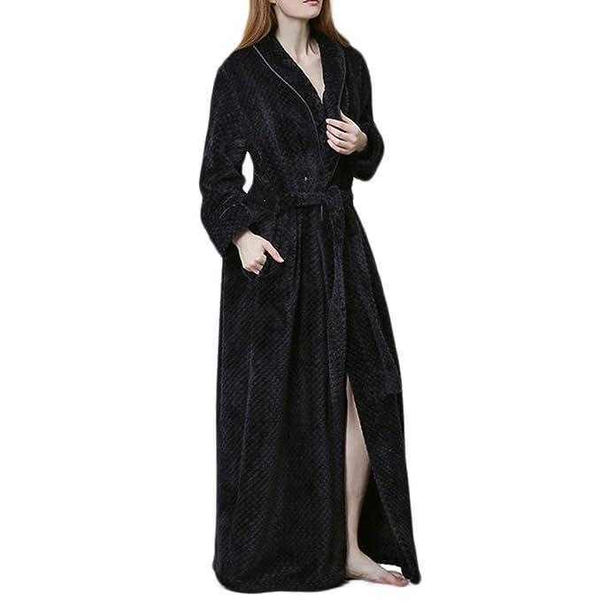 Bata De Invierno Otoño Bata De Mujer Bata De Baño Moda Casual Pijamas Bata De Franela De Mujer: Amazon.es: Ropa y accesorios