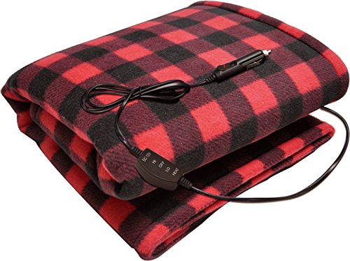 Sojoy Electric Blanket Checkered Burgundy product image