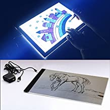 Portable LED Light A4 Pad Tracing Board Light Box, Active Area 12.24 x 9.37- Inch