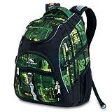 High Sierra Access Backpack, Green Pattern, 20x15x9.5-Inch