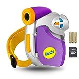 Kids Digital Video Camera, Children Recorder Camcorder with SD Card and Batteries, Ergonomic Design