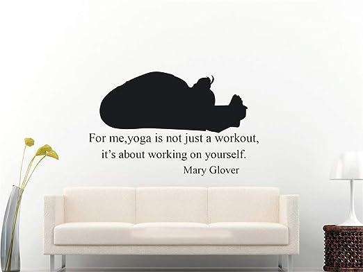 pegatina de pared frases Mad World Yoga Trabajando en sí ...