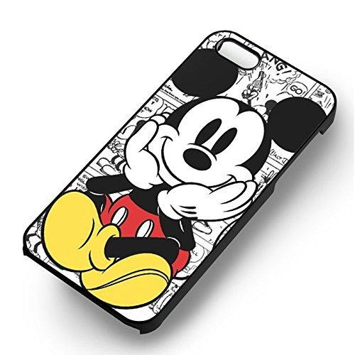 Cute Mickey Cartoon pour Coque Iphone 6 et Coque Iphone 6s Case (Noir Boîtier en plastique dur) O3I8UR