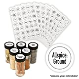 AllSpice 280 Preprinted Water Resistant Round Spice Jar Labels Set 1.5''- Fits Penzeys and AllSpice Jars-4 styles to choose from (Modern White)