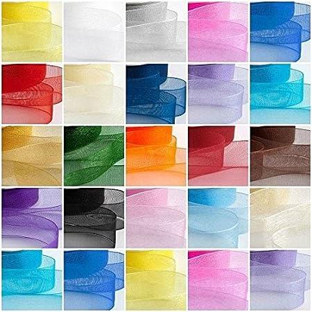 3 Metres Satin Edge Organza Ribbon 38mm  All Colours