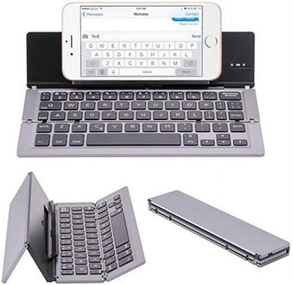 XW Mini Teclado Plegable Portátil, Plegable Bluetooth Teclado ...