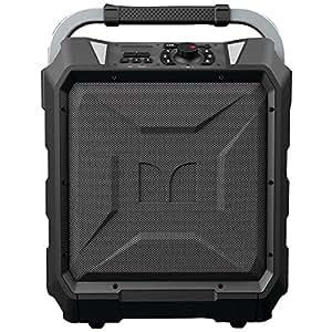 Monster Rockin' Roller 2 | 80 Watts, 100 Hour High Performance Water Resistant Outdoor/Indoor Wireless Bluetooth Speaker, Night View LED (Black)