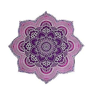 Amazon Com Large Round Lotus Flower Mandala Tapestry 100 Cotton