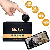 UpgradeWith Mini Spy Camera Wireless Hidden WiFi | [2020 Released] Full HD 1080P Audio Motion Sensor Infrared Night Vision | Mini Nanny Cam for Apartment Security