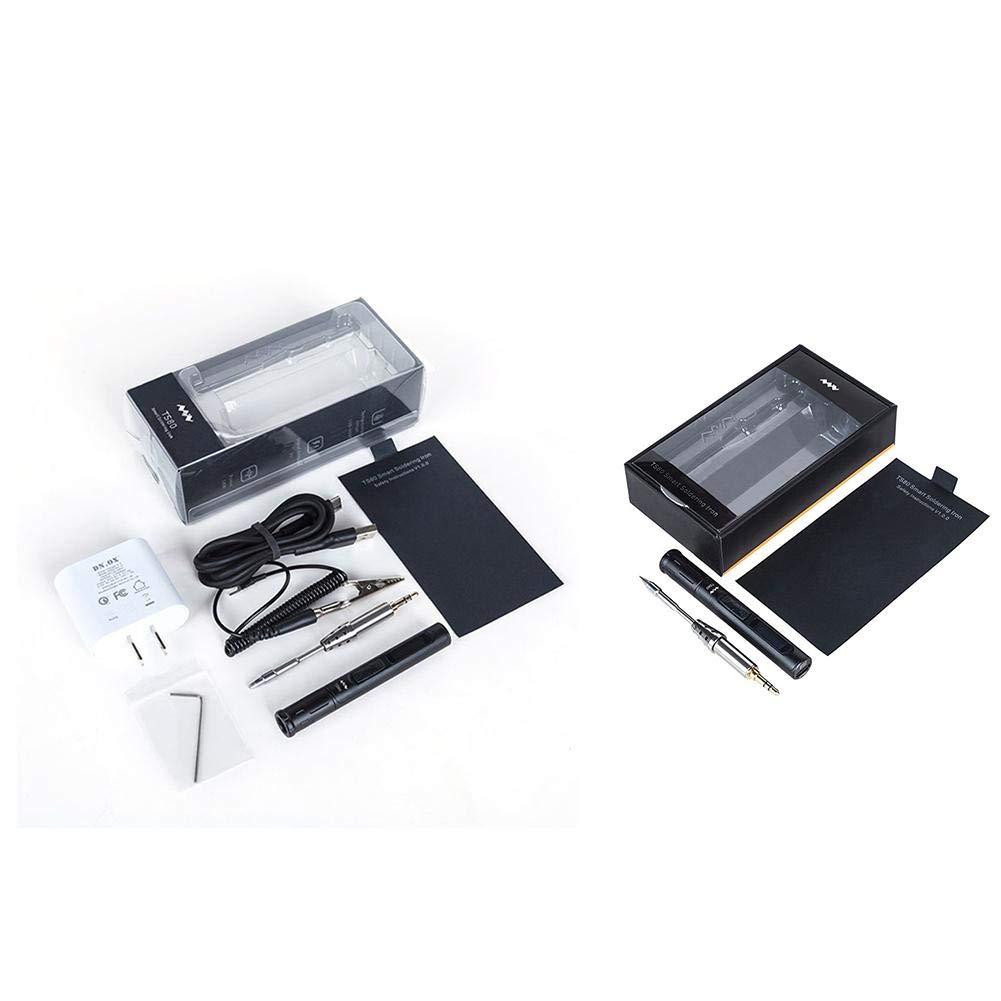 Fer /à souder /électrique 220V USB Type Mini Kit de fer /à souder /électrique TS80 Temp/érature r/églable Station de soudure num/érique Affichage OLED Portable 110V