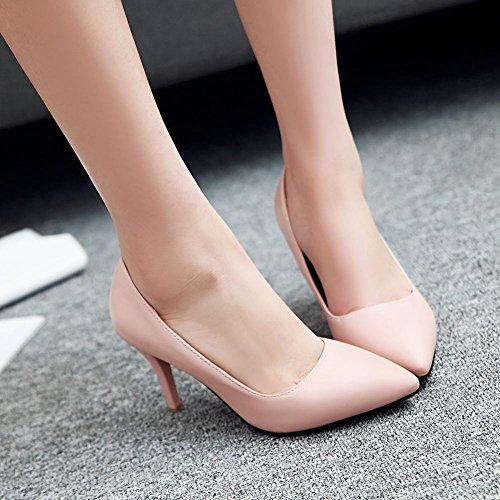 MissSaSa Damen elegant high heel Pointed Toe Pumps mit Stiletto Pink