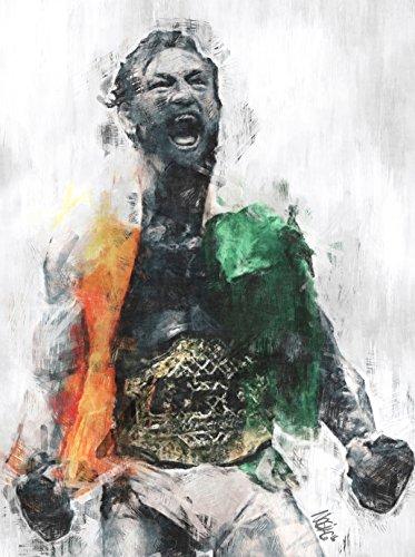 Modern Digital Designs Conor McGregor Featherweight Champion Poster (18 x 24)