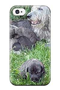 Special Jasenka Selimovich Skin Case Cover For Iphone 4/4s, Popular Irish Wolfhound Puppies Phone Case