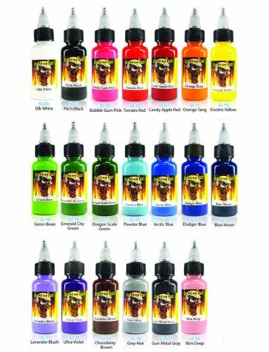 Scream Tattoo Ink 20-Pack Set 1-oz Bottles -Tattoo Supplies-