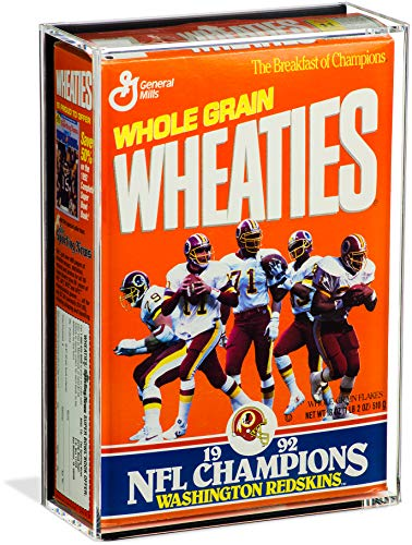 Deluxe Acrylic Wheaties Cereal Box Display Case with Black Back Wall Mount (A020)