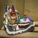 HomeZone Animated Christmas Carol Village Nativity Scene Christmas Ornament Decoration Colour Changing LED Fairy Lights And Sounds Battery Operated