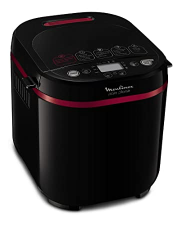 Moulinex OW2208 Negro 650W - Panificadora (De plástico, Negro, 1 kg, Pastel de masa, Masa, Pan francés, Pan sin gluten, 500 g, 15 h)