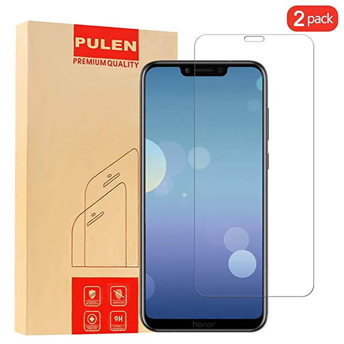 Pulen Huawei Honor 8 X Screen Protector, Premium Quality 9 H Hardness Tempered Glass [Bubble Free][Anti Fingerprint][Case Friendly] Hd Scratch Resistance 2.5 D Film For Huawei Honor 8 X [2 Pack] by Pulen