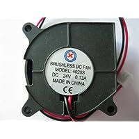 2 pcs Brushless DC Blower Fan 4020S 24V 2 Wires Black Color 40x20mm Sleeve-bearing Skywalking
