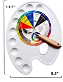 Art Embraced: Artist Paint Palette Tray, Small Color Wheel, and Painting Palette Knife