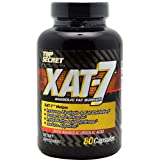 Top Secret Nutrition Xat-7 Anabolic Fat Burner Capsules, 80 Count, Health Care Stuffs