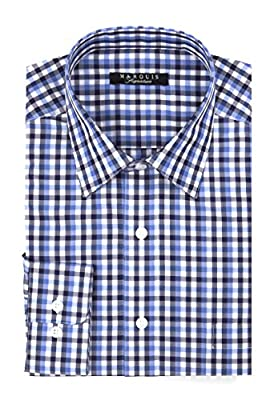 Marquis Men's Tattersall Slim Fit Shirt