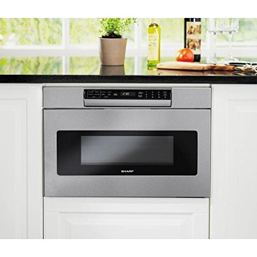 Sharp SMD2470AS Microwave Drawer Oven, 24-Inch 1.2 Cu. Feet, Stainless Steel (24 Built In Microwave Oven With Trim Kit)
