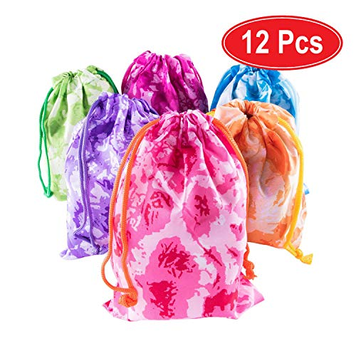 Birthday Party Personalized Favor - Super Z Outlet Tie-Dye Camouflage Drawstring Bags Party Favors, Arts & Crafts Activity (Assorted 12 Pack)