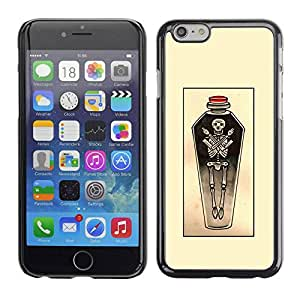 PC/Aluminum Funda Carcasa protectora para Apple Iphone 6 Plus 5.5 coffin skull yellow sketch potion art / JUSTGO PHONE PROTECTOR