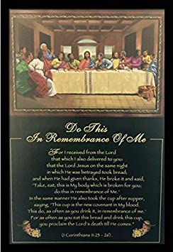 US Art Do This, In Remembrance Of Me Religious – Last Supper – Johnny Myers 24×36 Black Framed – African American Black Art Print Wall Decor Poster