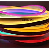 5 Meter NEON LED Flexible Strip Light with Two PIN Power Plug for Diwali, Christmas, Home Decoration Specialty Lighting at amazon