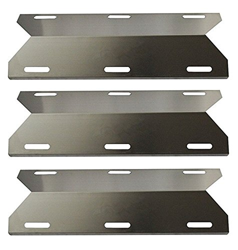 Hongso SPA231 (3-pack) Stainless Steel BBQ Gas Grill Heat Plate, Heat Shield, Heat Tent, Burner Cover, Vaporizor Bar, and Flavorizer Bar for Costco Kirland, Jenn-air, Nexgrill, Lowes (17 3/4 by Hongso