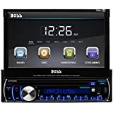 BOSS AUDIO BV9986BI Single-DIN 7 inch Motorized Touchscreen DVD Player Receiver, Bluetooth, Detachable Front Panel, Wireless Remote