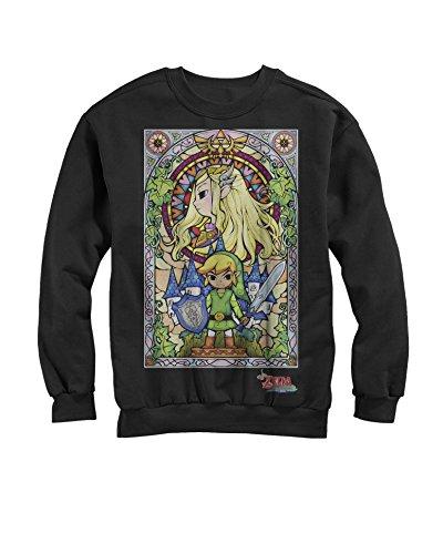 The Legend of Zelda: The Wind Waker Regal Stained Glass Crewneck Sweatshirt (2XL)