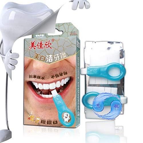 Natural Teeth Whitener Kit,Taykoo Pro Nano Teeth Whitening System Tool(2 clean toothbrush +10 nano-clean bars)