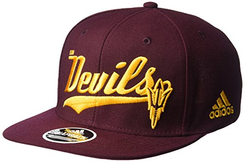 NCAA Arizona State Sun Devils Men's Tail Sweep Logo Structured Adjustable Hat, Maroon, One Size