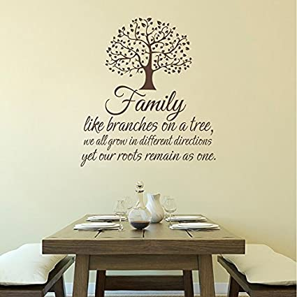 Amazon.com: Wall Decal Decor Family Wall Decal Quote ...