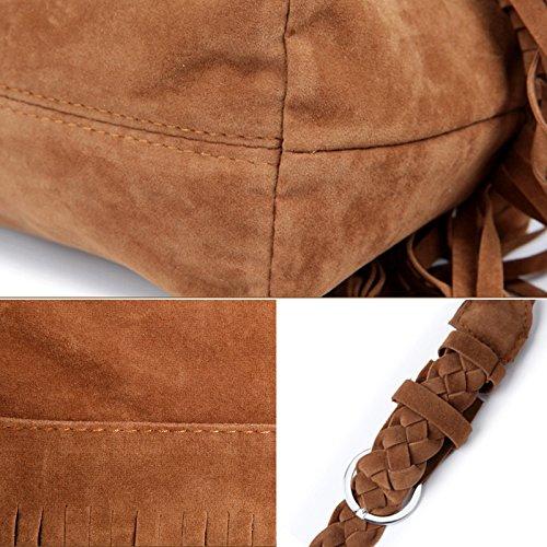 Aisi Damen Quaste Fransen Umhängetasche / Schultertasche /Schultasche /Henkeltaschen / Abendtasche / Party-Bags / Trend-Bags Messenger Bag