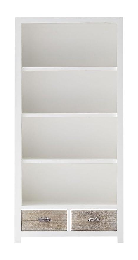 Tradefurn 1207car libreria con cassetti, shabby-chic-Stil, legno ...
