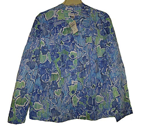 (Coldwater Creek Women's Spring Floral Waves Jacket Work Casual Night Size XL18)