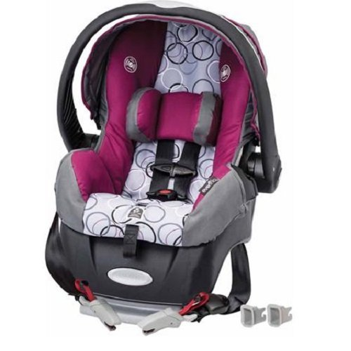 Evenflo Embrace Select Infant Car Seat with Sure Safe Installation, Evangeline (Evenflo Embrace 5 Infant Car Seat)