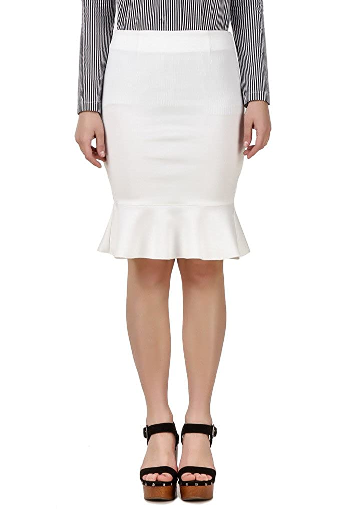 TEXCO Bodycon Trumpet Peplum Women Skirt