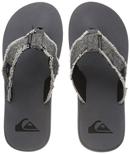 Playa Quiksilver De grey Monkey Abyss black Piscina Hombre Para Zapatos Grey Y qpxIBOpw