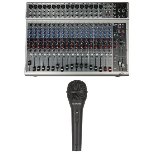 Peavey PV20 Mixing Console with Peavey Pvi 2 Microphone