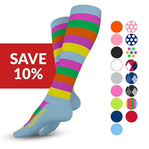 GO2 Compression Socks for Women & Men-Nurses,Running,Travel,Maternity-20-30mmHg(high)Medical Stocking-Graduated Fit Crossfit,Cycling,Skiing,Hiking-Best Performance,Recovery,Circulation & Stamina(2SXL) by Go2Socks (Image #1)